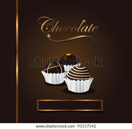 Chocolate menu design EPS 8 vector, grouped for easy editing. No open shapes or paths. - stock vector
