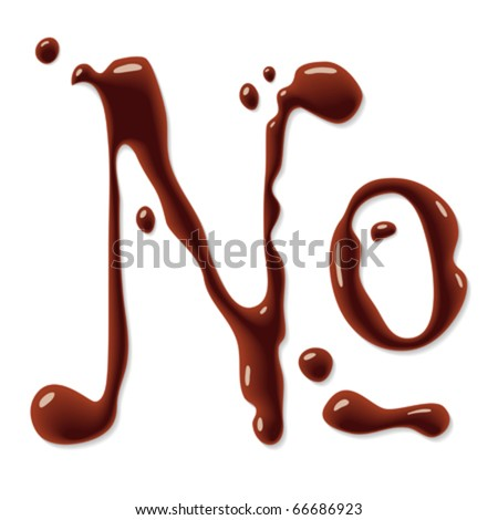Chocolate numero sign - stock vector