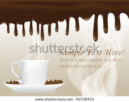 Chocolate Poster Template Set - stock vector