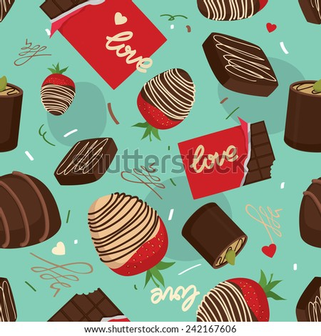 Chocolate seamless vector pattern