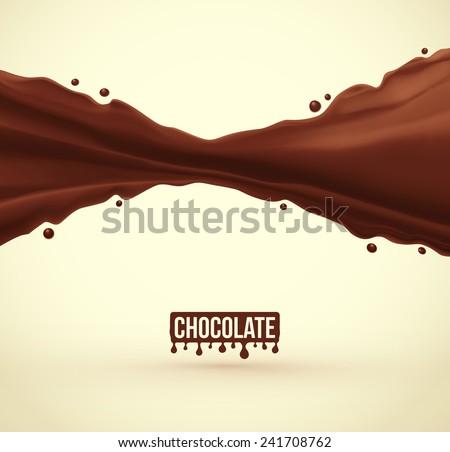 Chocolate splash background, eps 10 - stock vector