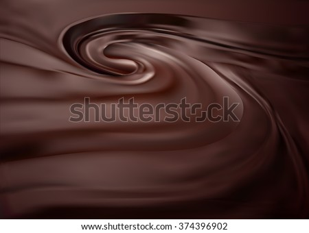 Chocolate swirl background. melted choco mass. Gradient Mesh. EPS10.  - stock vector
