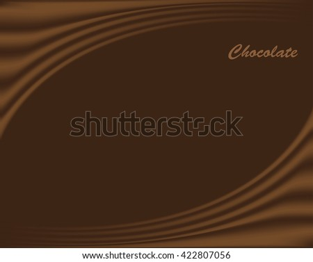 Chocolate wave background.Vector illustration.