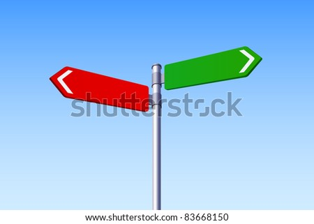 Choice Concept - Two Road Signs - stock vector
