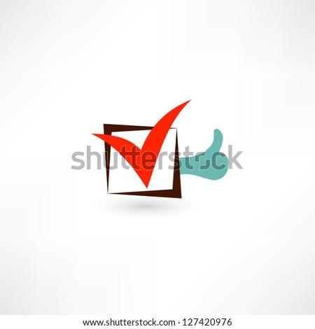 Choice icon - stock vector