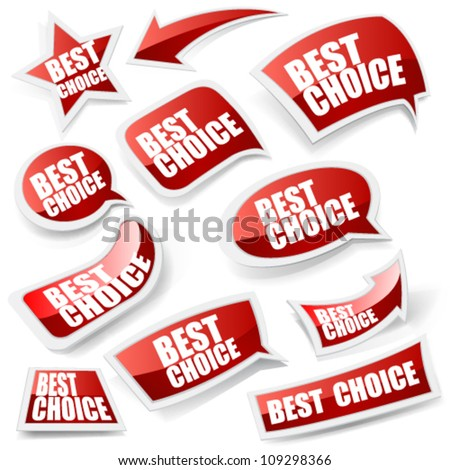 Choice stickers set. - stock vector