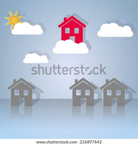 Choosing the best home to live. vector image