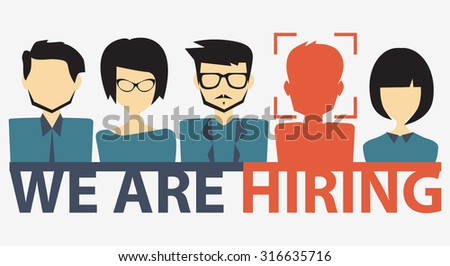 choosing the talented person for hiring - stock vector
