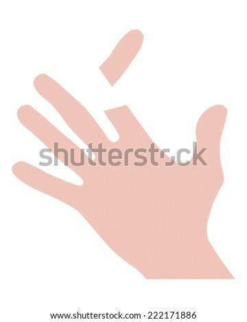 Chopped Finger - stock vector