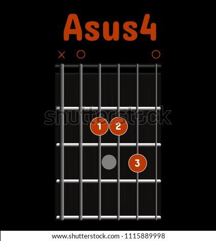 Chord Diagram Tab Tabulation Finger Chart Stock Vector 1115889998 ...