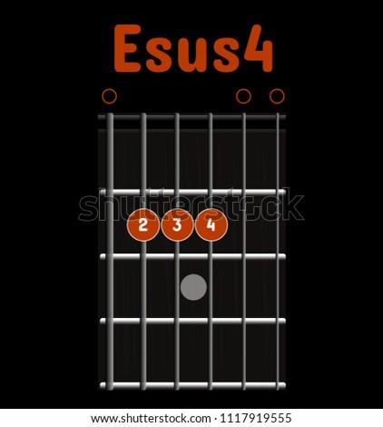 Chord Diagram Tab Tabulation Finger Chart Stock Vector 1117919555 ...