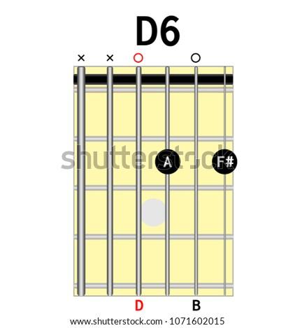 Chord Diagram Tab Tabulation Finger Chart Stock Vector (Royalty Free ...