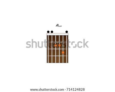 Chord Guitar Asus4 Stock Vector 714124828 - Shutterstock
