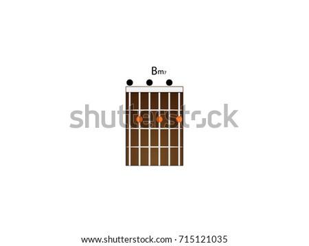 Chord Guitar Bm7 Stock Vector 715121035 Shutterstock