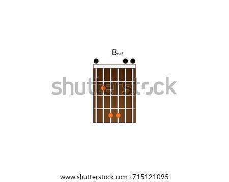 Chord Guitar Bsus 4 Stock Vector 715121095 - Shutterstock