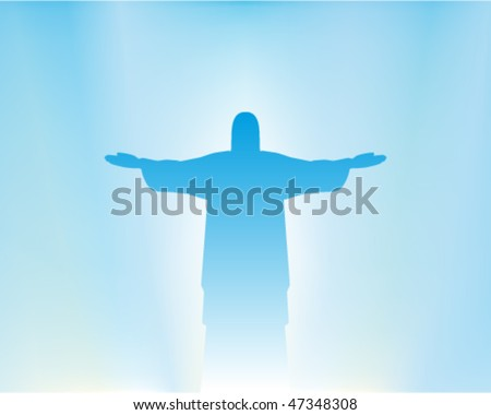 Christ resurrection - stock vector