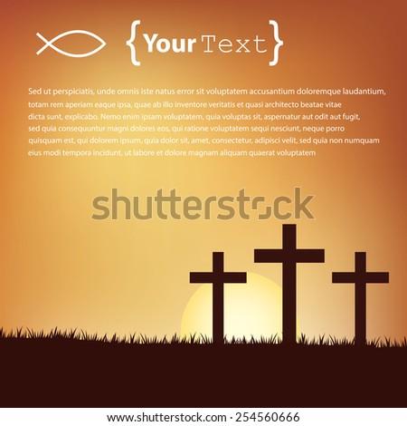 Christ's cross - stock vector
