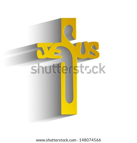 Christ's cross on a white background - stock vector