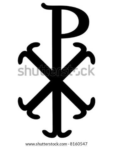 Christian Chi Rho symbol (for Christ) - stock vector