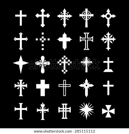 Christian cross  - stock vector