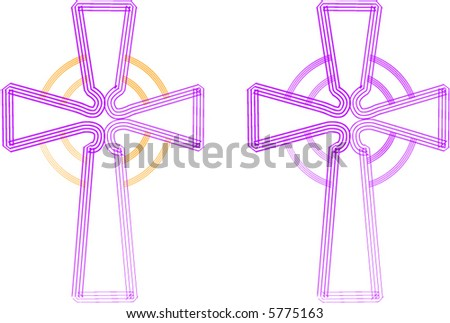 Christian Cross (Celtic Style) - stock vector
