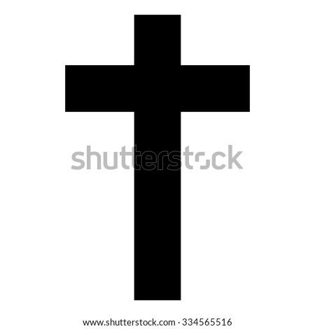 Christian Cross Vector - stock vector