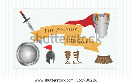 Armor God Including Belt Truth Breastplate Stock Vector 361900208 ...
