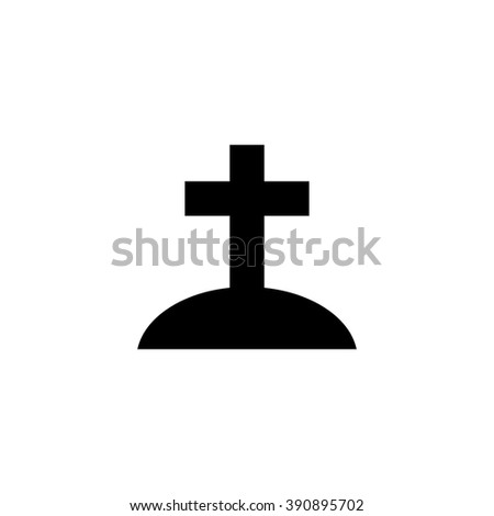 Christian tomb. Vector icon