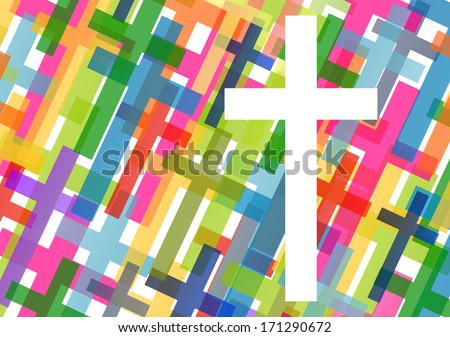 Christianity religion cross concept abstract background vector illustration - stock vector