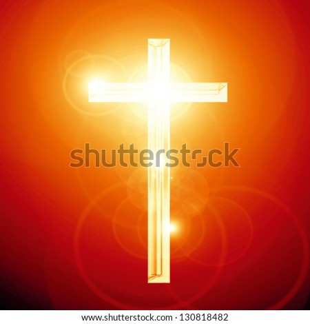 Christianity representation with the symbol of a cross - stock vector