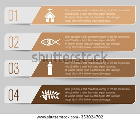 christianity themed infographic - stock vector