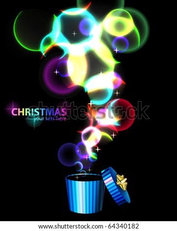 Christmas abstract backgound - stock vector