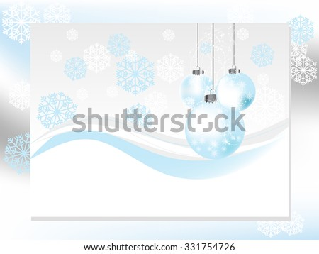 Christmas abstract background  with balls and snowflakes