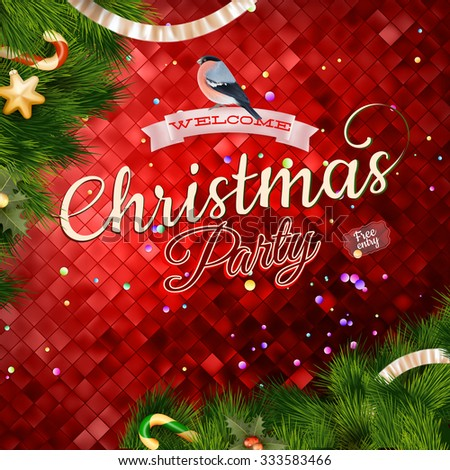 Christmas Abstract colorful background. EPS 10 vector file included - stock vector