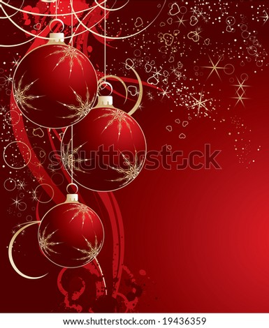 Christmas abstraction. Vector illustration for design.