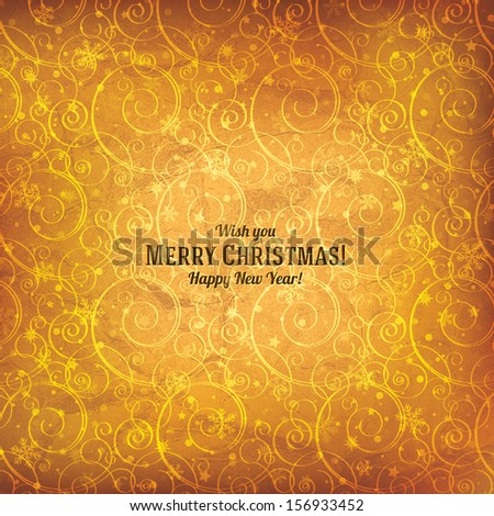 Christmas and New Year bright background - stock vector