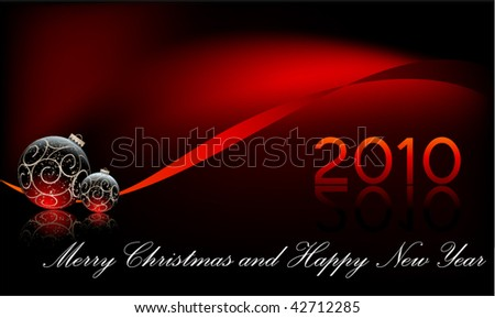 christmas and new year card background - stock vector