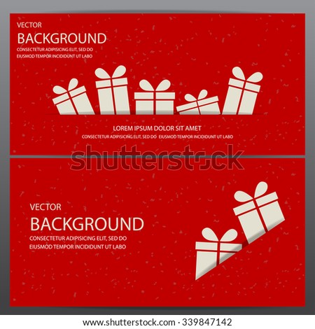christmas and new year gift voucher certificate coupon template. can be used for business shopping card, customer sale and promotion, layout, banner, web design. vector  illustration - stock vector