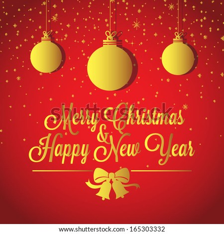 Christmas new year greetings card stock vector 165303332 shutterstock christmas and new year greetings card m4hsunfo Images