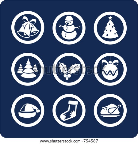 """Christmas and New Year (p.1) To see all icons, search by keywords: """"agb-vector"""" or """"agb-raster"""" - stock vector"""