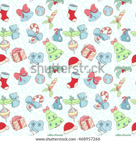 Christmas and New Year pattern can be used for wallpaper, website background, wrapping paper