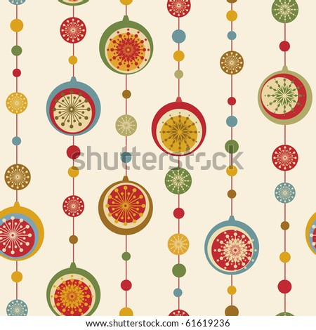 Christmas and New Year seamless pattern - stock vector
