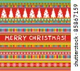 Christmas and New Year seamless pattern. Merry christmas wallpaper. Vector illustration - stock vector