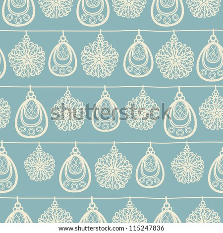 Christmas and New Year seamless pattern. Vector illustration. - stock vector