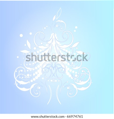Christmas and new year tree - stock vector