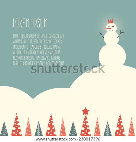 Christmas and New Year vector greeting card. Xmas illustration and design element. Great card, wrapping paper or backdrop.  - stock vector
