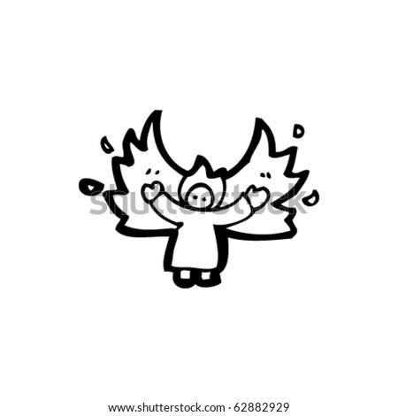 Christmas Angel Cartoon - stock vector