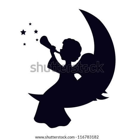 Christmas Angel isolated on white background - stock vector