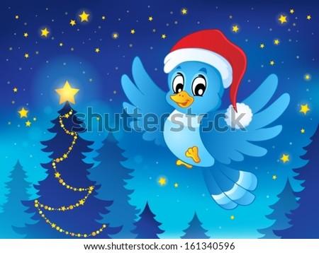 Christmas animal theme image 3 - eps10 vector illustration. - stock vector