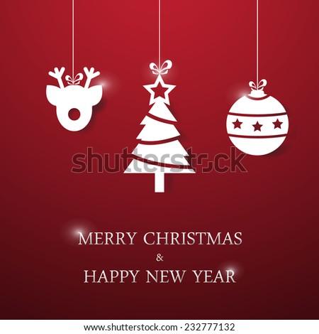 Christmas applique background. Vector/illustration. - stock vector